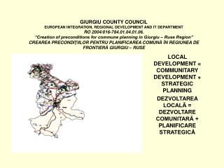 LOCAL DEVELOPMENT = COMMUNITARY DEVELOPMENT + STRATEGIC PLANNING