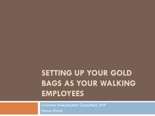 Setting up your Gold Bags as your walking Employees