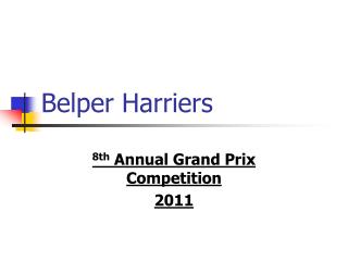 Belper Harriers