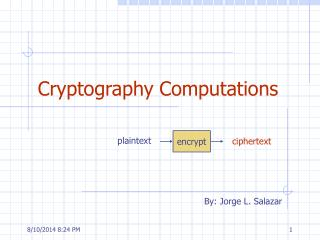 Cryptography Computations