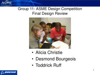Group 11- ASME Design Competition Final Design Review