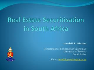 Real Estate Securitisation in South Africa