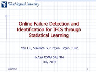 Online Failure Detection and Identification for IFCS through Statistical Learning