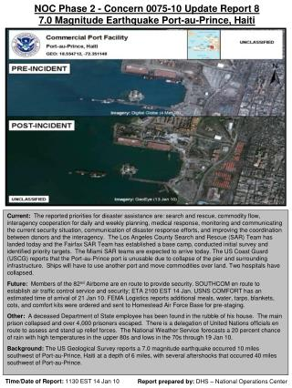 Report prepared by:  DHS – National Operations Center
