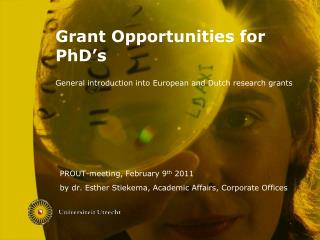 Grant Opportunities for PhD's
