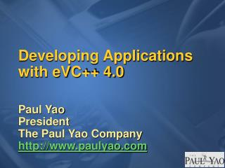 Developing Applications with eVC 4.0