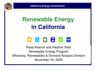 Renewable Energy  in California