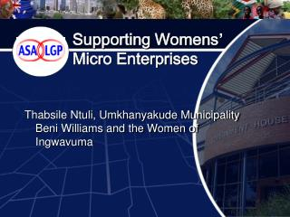 Supporting Womens ' Micro Enterprises