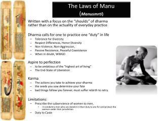 The Laws of Manu ( Manusmrti )