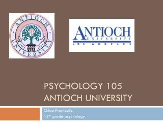 Psychology 105 Antioch university