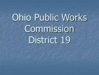 Ohio Public Works Commission District 19