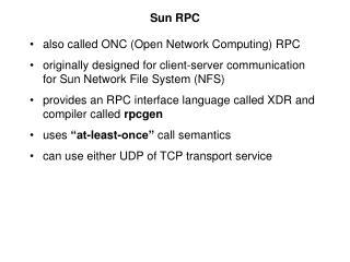 Sun RPC