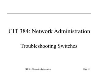 CIT 384: Network Administration