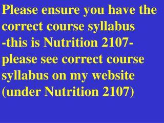 Please ensure you have the correct course syllabus