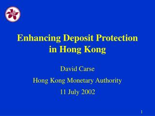 Enhancing Deposit Protection in Hong Kong