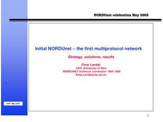 NORDUnet celebration May 2005