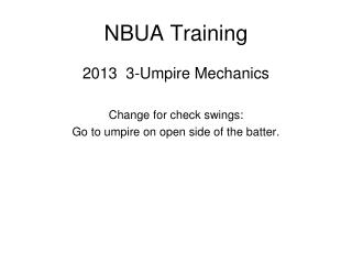NBUA Training