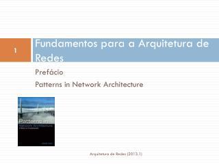Fundamentos para a Arquitetura de Redes