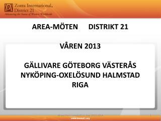 Medlemskap - Bas för Zonta Distrikt 21 2012 - 2014