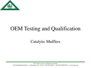 OEM Testing and Qualification