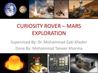 CURIOSITY ROVER � MARS EXPLORATION
