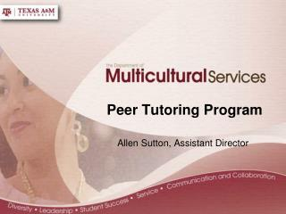 Peer  Tutoring Program
