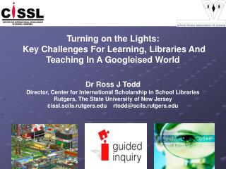 Turning on the Lights:  Key Challenges For Learning, Libraries And Teaching In A Googleised World