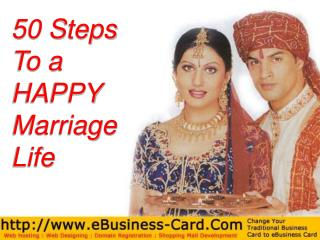 50 Steps To a  HAPPY  Marriage Life