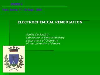 ELECTROCHEMICAL REMEDIATION