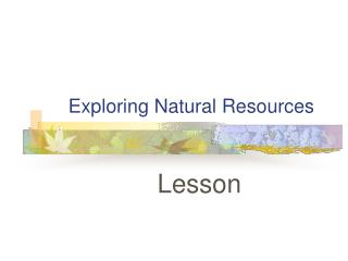 Environmental Resources Unit
