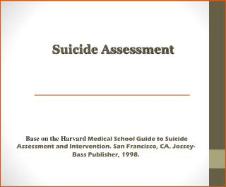 Suicide Assessment