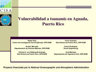 Vulnerabilidad a tsunamis en Aguada, Puerto Rico