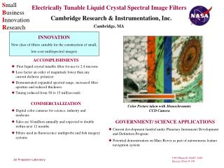 Electrically Tunable Liquid Crystal Spectral Image Filters
