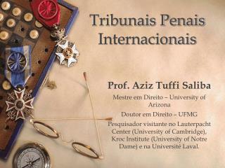 Tribunais Penais Internacionais