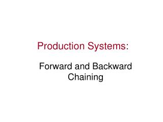 Production Systems: