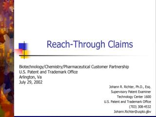 """REACH-THROUGH CLAIMS"""