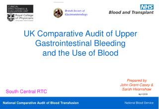 UK Comparative Audit of Upper Gastrointestinal Bleeding  and the Use of Blood