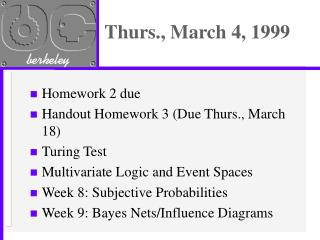 Thurs., March 4, 1999