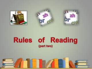 Rules   of   Reading (part two)