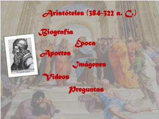 Aristóteles  (384-322 a. C.)