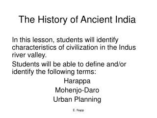The History of Ancient India