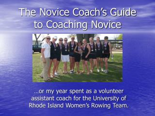 The Novice Coach's Guide to Coaching Novice