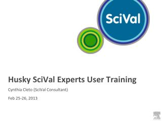 Husky  SciVal  Experts User Training