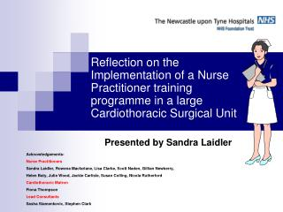 Acknowledgements- Nurse Practitioners