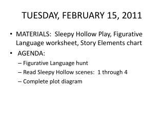TUESDAY, FEBRUARY 15, 2011