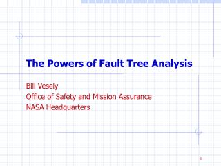 The Powers of Fault Tree Analysis