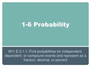1-6 Probability