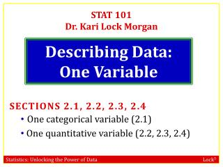Describing Data: One Variable