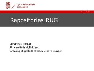 Repositories RUG