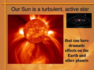 Our Sun is a turbulent, active star